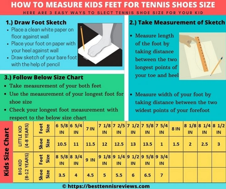 Measurement guidance for kids feet, How to measure foot size for kids tennis shoes, best kids tennis shoes measurement guidance, how to select best tennis shoes for Kids, how to choose best tennis shoes for kids