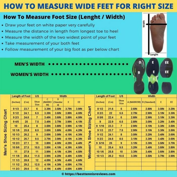 Measurement guidance for wide feet tennis shoes, How to measure wide feet for tennis shoes, best tennis shoes for wide feet measurement guidance, how to select tennis shoes for wide feet, how to select best tennis shoes for wide feet